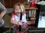 Lily baking with her Mimi