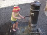 Discovering one of Rome's many drinking fountains