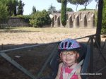 Smiling at the start of our bike trip down the Appian Way