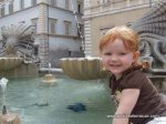 This little girl is obsessed with fountains