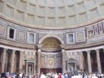 Interior of the Pantheon - as old as the ruins, but not a ruin thanks to those trusty Catholics