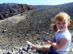 Throwing rocks into the crater