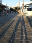 Three shodows on the streets of Anti-Paros