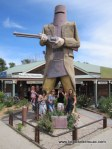 The 'big' Ned Kelly in Glenrowan